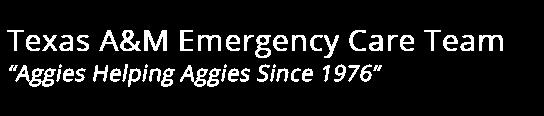 Texas A&M Emergency Care Team Logo